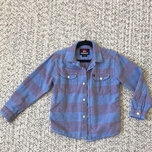 Quiksilver button down long sleeve size 5 (S)